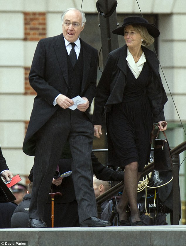 Lord Howard, pictured with his wife Sandra in 2013, has 958,000 shares in Entree that are said on the parliamentary register of members' interests to be worth less than £50,000 — though they could be worth millions if the company strikes it rich