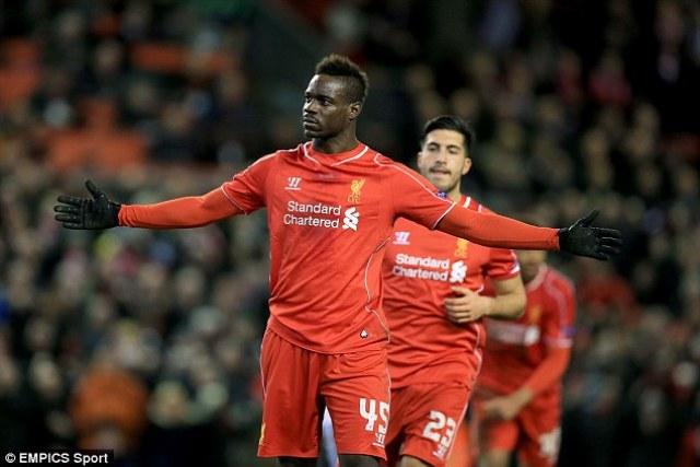 Balotelli celebrates, in his own way, the last goal he scored all the way back on February 19 against Besiktas