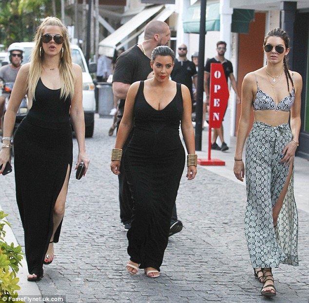 Not all play: The ladies are filming the latest season of Keeping Up With The Kardashians on their most recent exotic vacation