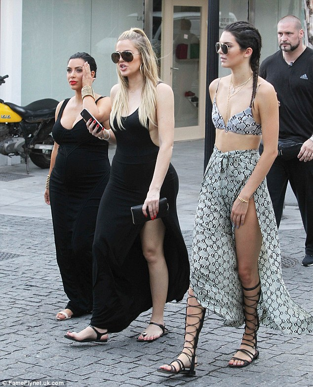 Where's Kylie? The sisters got on with filming without 18-year-old Kylie who was still celebrating her birthday in Canada on Sunday