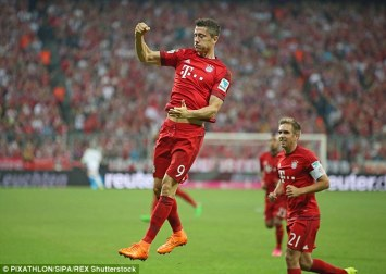 Image result for thomas muller and robert lewandowski