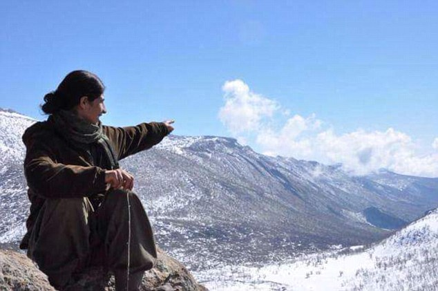 Fighter: Kevser Elturk was known as Ekin Van and was a member of the banned Kurdistan Workers' Party (PKK) - a Kurdish militant group considered by Nato to be a terrorist organisation