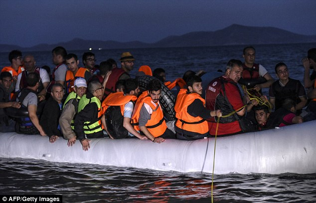 Syrian migrants set off in board an inflatable boat from Bodrum, southwest Turkey, in an attempt to reach the Greek island of Kos early on Wednesday. Slovakia has agreed to take in 200 Syrian migrants to help with the growing crisis – but only if they are Christian