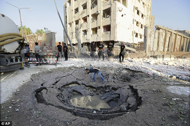 A bomb blast near a Cairo state security building left 29 injured, including six police officers. A huge crater could be seen outside after the explosion
