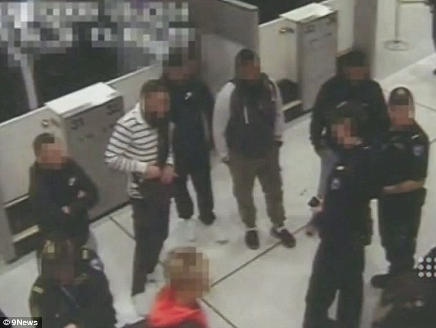 Footage of the five young Australian men, suspected of trying to leave the country to join terrorists in the Middle East, has been released to the public