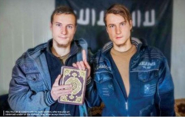 ISIS's magazine praised the death of twin brothers Abu Musab al-Amani and his brother, who died fighting. One of the brothers fought for the German army in Afghanistan