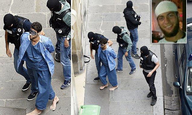 French Train Gunman Ayoub El Khazzani Led Into Court