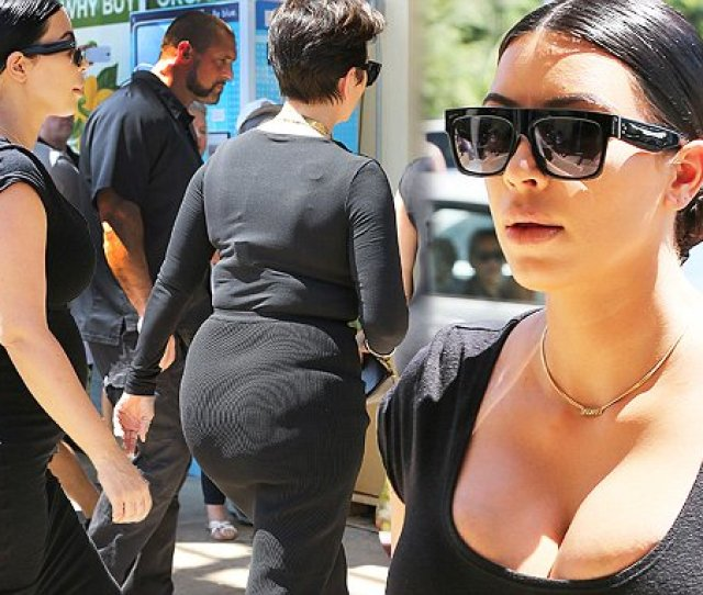 Kris Jenner Proves Kim Kardashians Famous Booty Runs In The Family Daily Mail Online