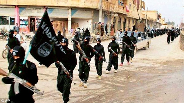Plan rejected: IS fighters march through the streets in Raqqa, the terrorist group's de facto capital