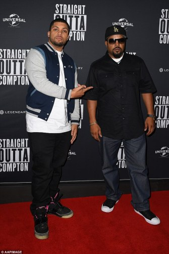 Like father, like son: The film stars O'Shea Jackson Jr.as his dad Ice Cube in the story about how N.W.A. emerged in the 1980s in response to life in the hood and police brutality in Los Angeles