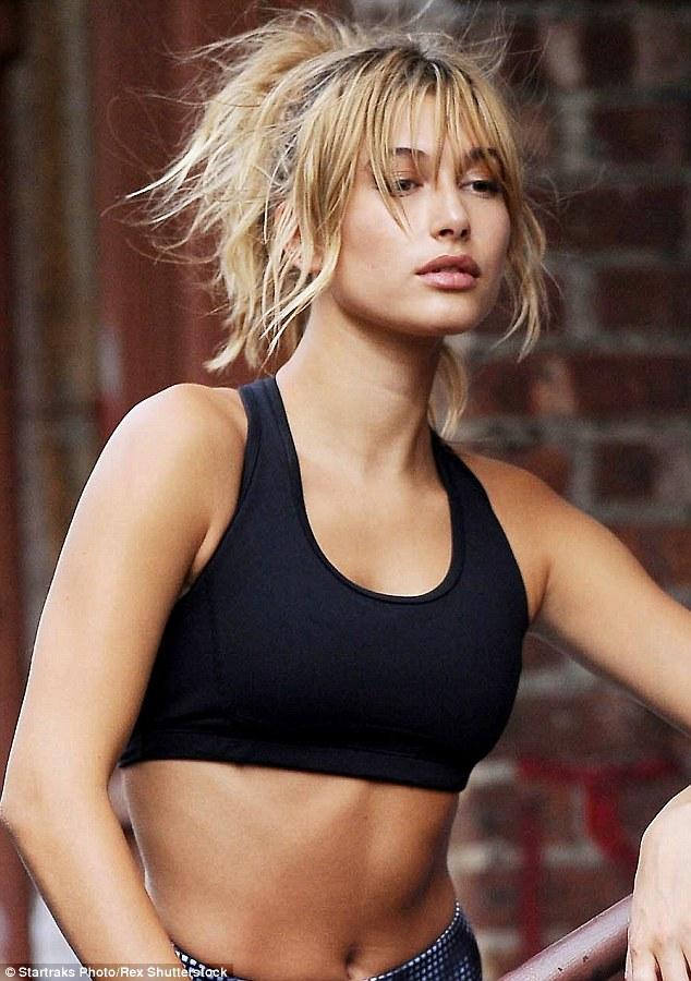 Hailey Baldwin In Workout Gear As She Stars In EXPRESS