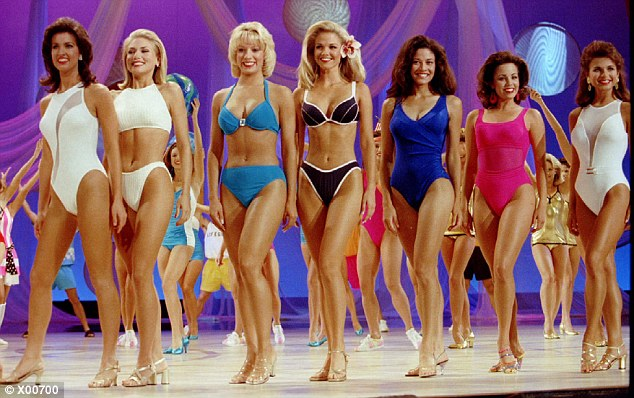 Midriff debut: In 1997 (pictured), for the first year ever, contestants were allowed to wear bikinis; surprisingly, only some women took advantage of the more relaxed rules