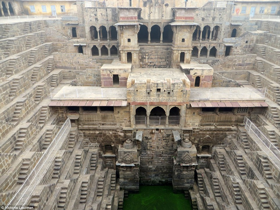 The Chand Baori stepwell is one of Rajasthan's most impressive and important landmarks, said to built between 800 and 900AD