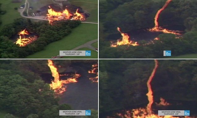 Jim Beam Factory Hit By Lightning Releases 800k Gallons Of