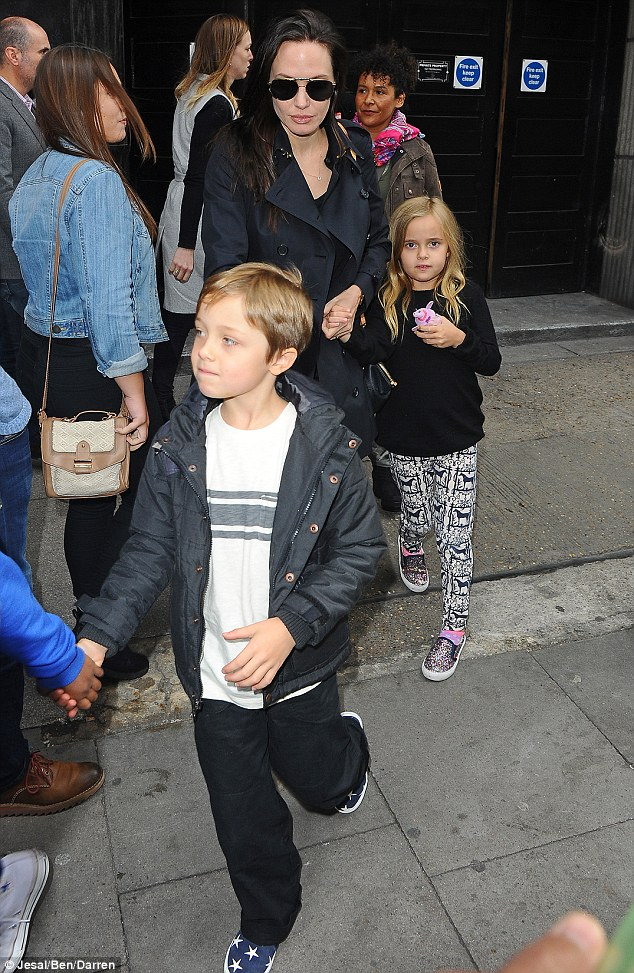 Holding hands: Zahara appeared to have been tasked with looking after her little brother Knox