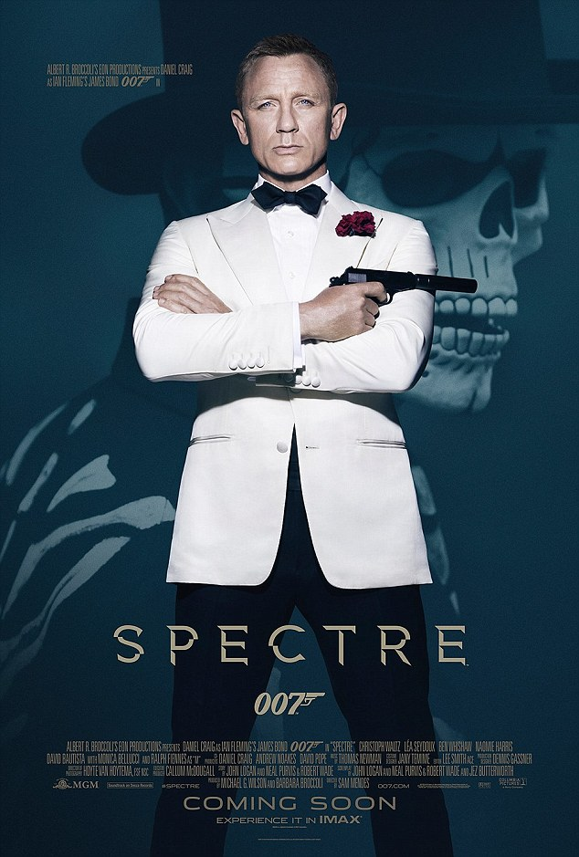 New 007 flick: Spectre hits UK cinemas on 26 October and is released in the US on 6 November