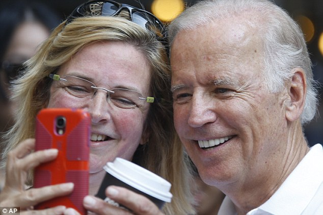Fans clamored for selfies with the VP, who tends to be known for his verbal gaffes