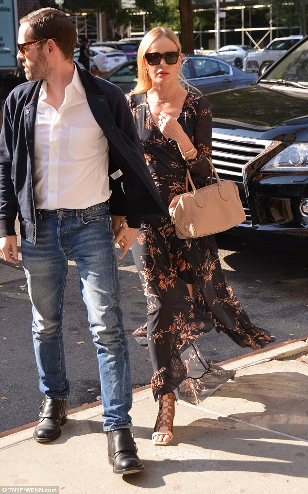 Kate Bosworth Flashes Some Thigh Out With Husband Michael