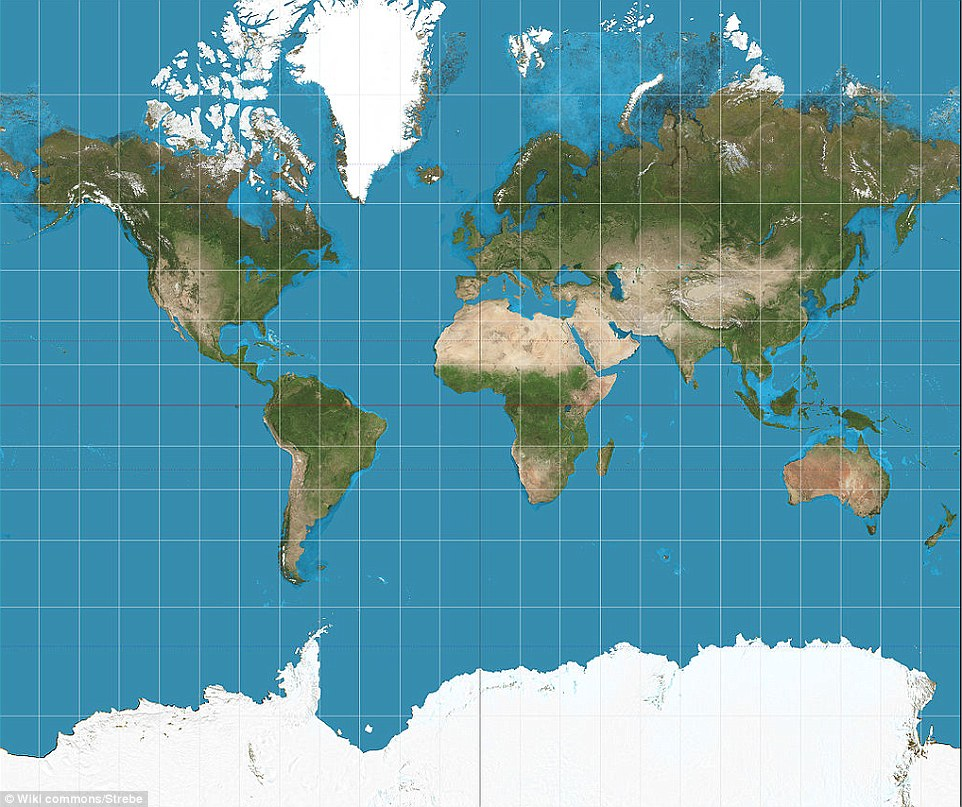 The TRUE scale of the Earth Interactive map shows how the US – Earth Interactive Map