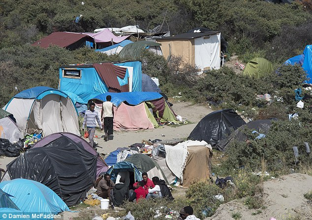 Image result for calais refugee camp