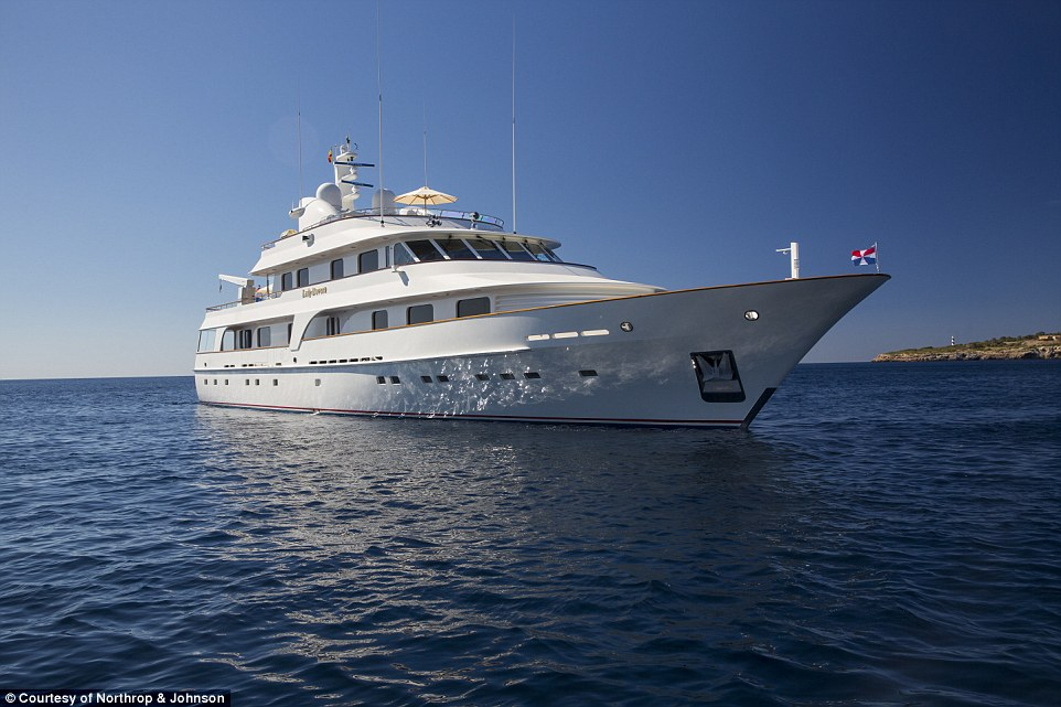 With an asking price of £7.9million ($12.1million), Lady Duvera is hailed for its transatlantic range and classic style