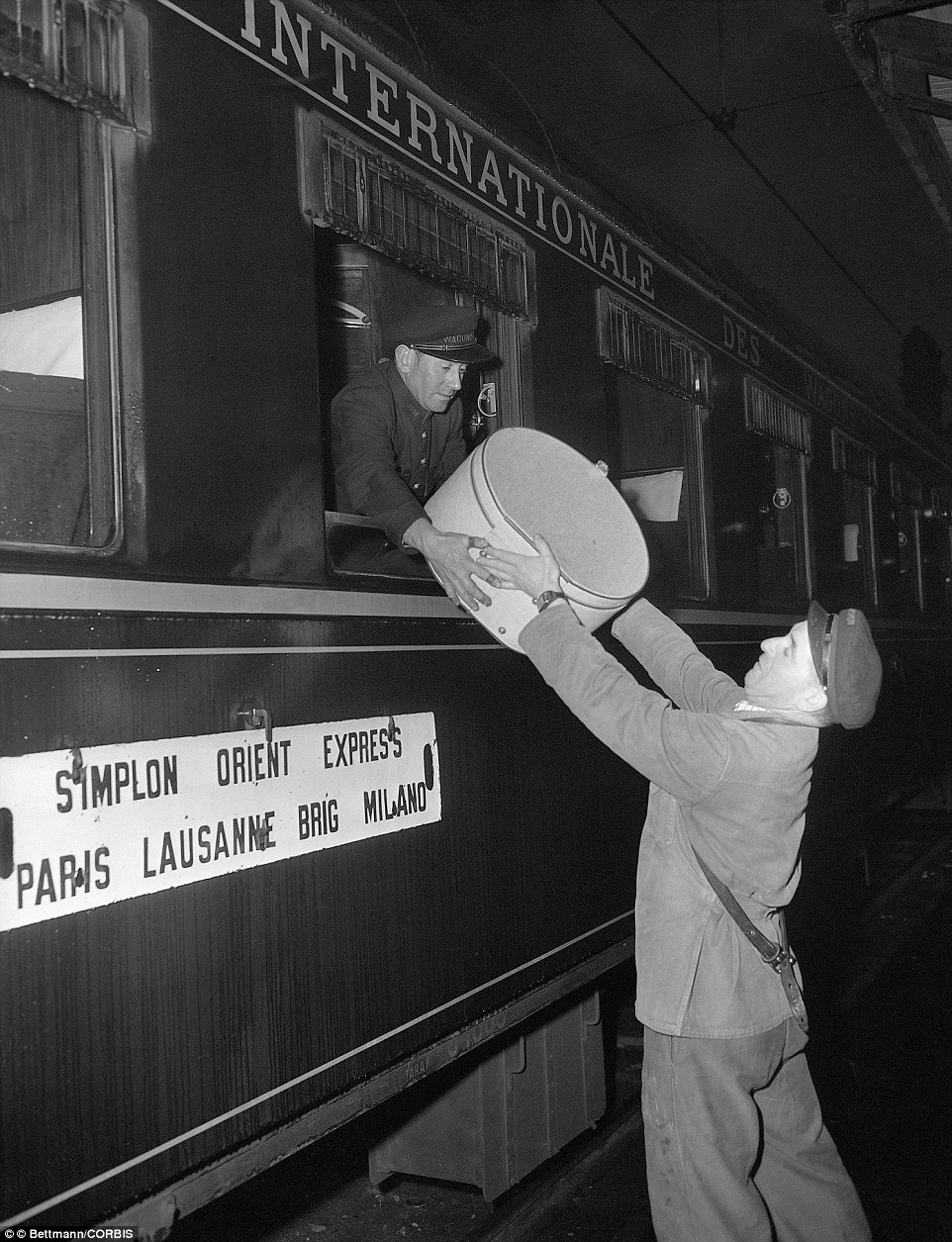 Pictured just before the Simplon-Orient Express began its journey from London to Istanbul via Venice and Paris