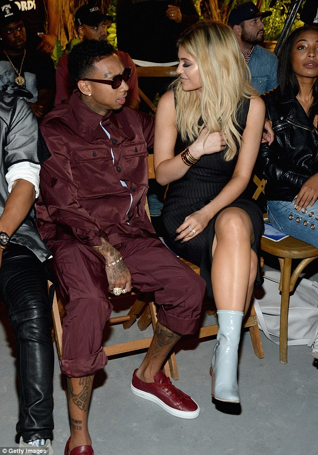 Kylie Jenner Joins Tyga At New York Fashion Weeks Opening