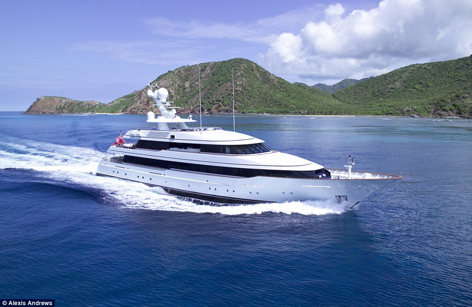 Madsummer, offered by Moran Yacht & Ship, has an asking price of £24.3million ($37.5million) ahead of this year's yacht show