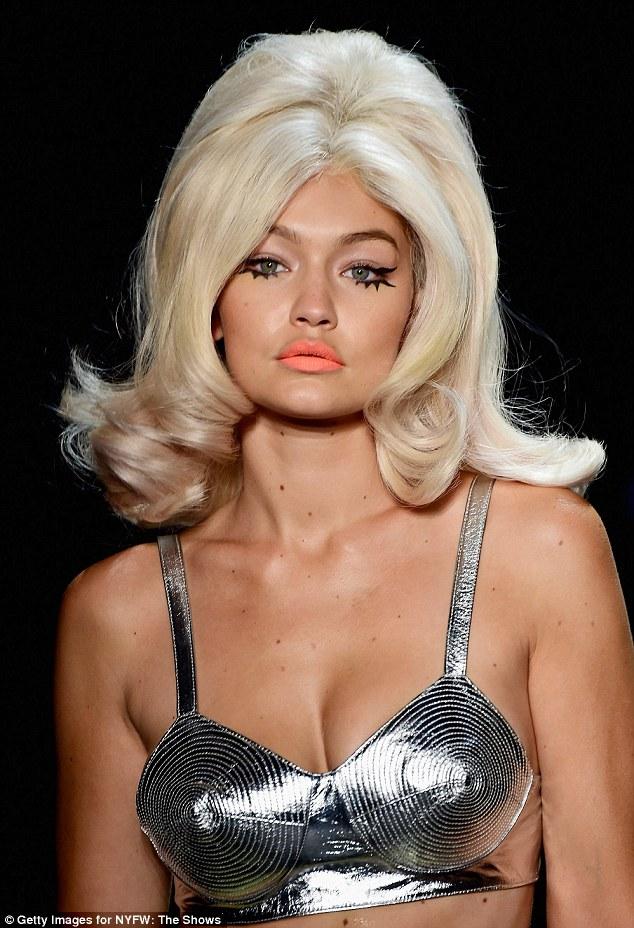 Gigi Hadid Wears A Wig As She Takes Jeremy Scott Catwalk