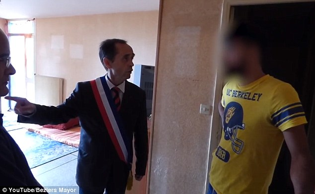Robert Menard, a politician linked to the National Front party in Beziers, told the refugee, 'you are not welcome in this town'