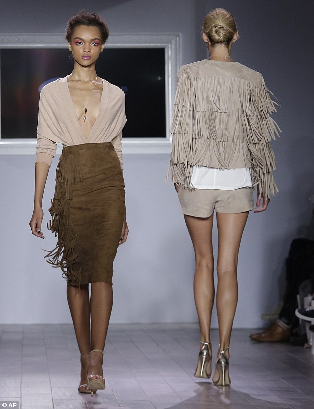 Fringe benefits: Serena's designs were praised by Vogue's contributing editor, Andre Talley. He declared it a 'smash hit collection'