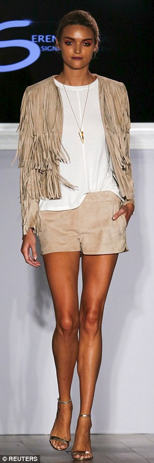 Themed: Beige was one of the most used colours in the tennis star's Spring/Summer 2016 collection