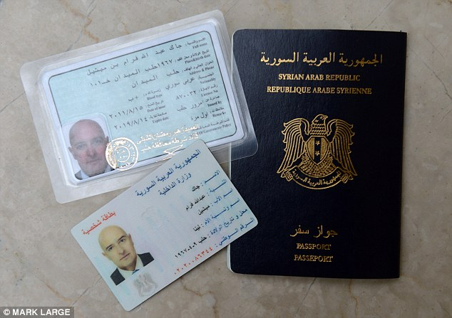 Easy: Our reporter was able to acquire the $2,000 haul of documents within just four days from criminals. Above are Syrian passport, driving licence and identity card