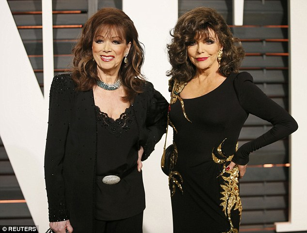 The best-selling author (left), who is the sister of actress Joan Collins (right),was diagnosed with stage 4 breast cancer more than six years ago