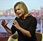 For use in UK, Ireland or Benelux countries only  BBC handout photo of International Development Secretary Justine Greening while appearing on the BBC1 current affairs programme, The Andrew Marr Show. PRESS ASSOCIATION Photo. Picture date: Sunday September 20, 2015. See PA story POLITICS Refugees. Photo credit should read: Jeff Overs/BBC/PA Wire NOTE TO EDITORS: Not for use more than 21 days after issue. You may use this picture without charge only for the purpose of publicising or reporting on current BBC programming, personnel or other BBC output or activity within 21 days of issue. Any use after that time MUST be cleared through BBC Picture Publicity. Please credit the image to the BBC and any named photographer or independent programme maker, as described in the caption.