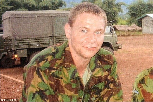 Corporal Vaughan, pictured during his days serving in the Army, was seriously injured by a roadside bomb