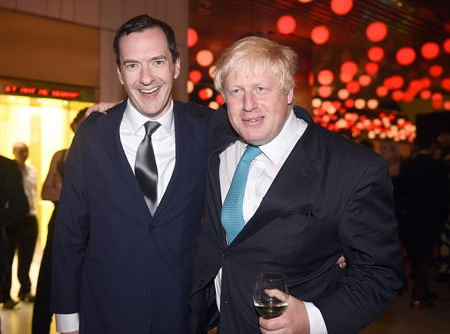 Phone call: With the economic recovery yet to take root, Chancellor George Osborne (left) was desperate to have a 'quiet conference' with 'nothing unexpected' - and he rang Mr Johnson (right) to instruct him to behave