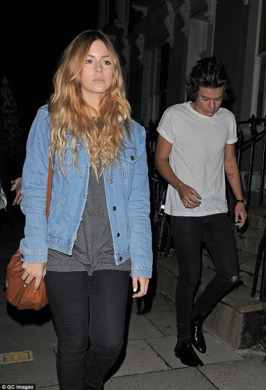 Letting her hair loose:No doubt a little horrified about the singer's remarks, Gemma was later seen enjoying a dance with a girlfriend as they sang loudly to 1D hits