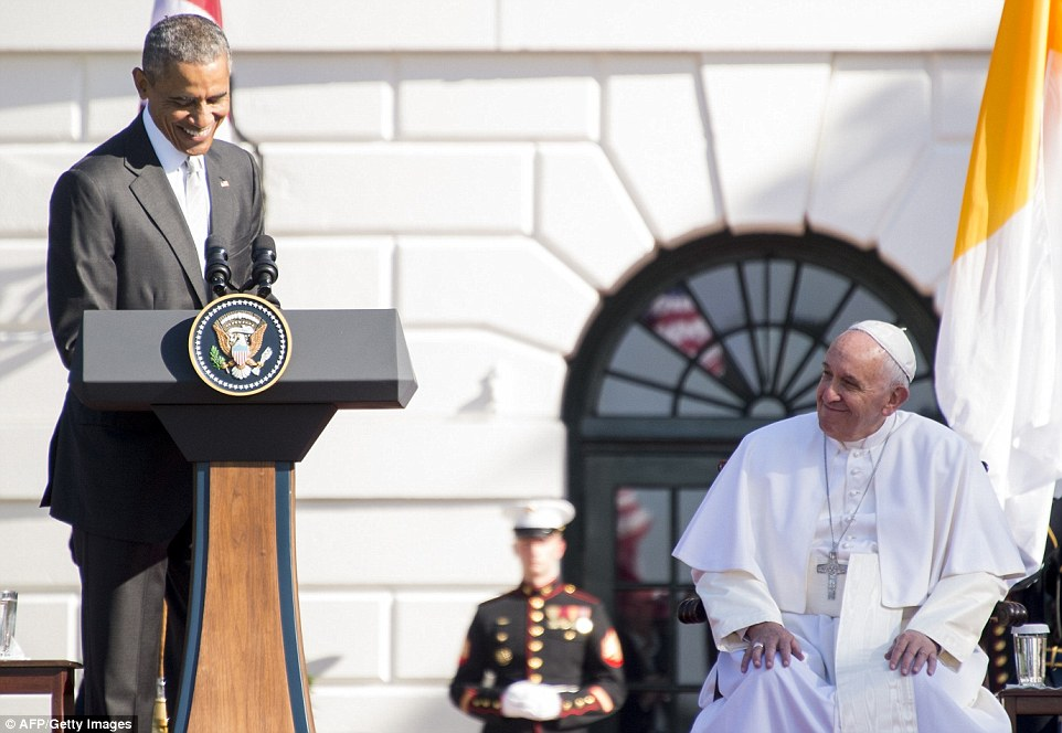 'All Americans, from every background and of every faith, value the role the Catholic Church plays in strengthening America,' Obama said