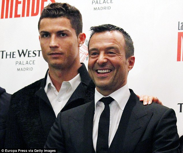 Jorge Mendes remains the wealthiest agent having been involved in Cristiano Ronaldo's move to Real Madrid