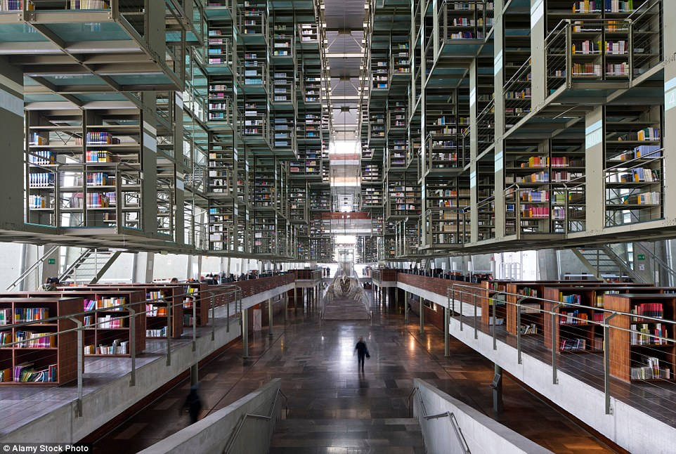 Mexico City's recently reopened Biblioteca Vasconcelos is an outstanding example of a contemporary digital-age library