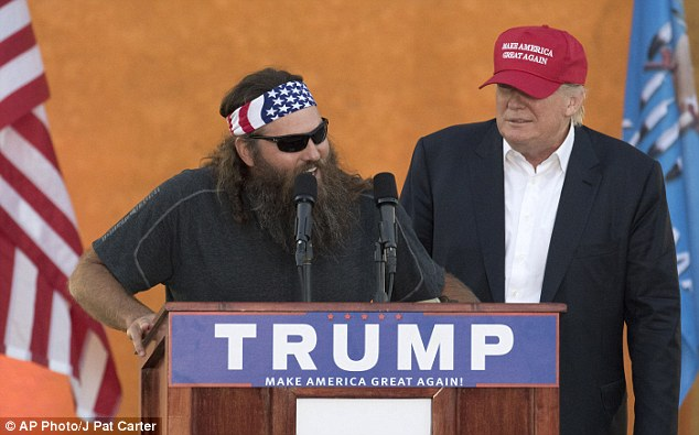 Duck Dynasty star Willie Robertson has backed Donald Trump after the billionaire brandished his childhood Bible and vowed to reclaim Christmas