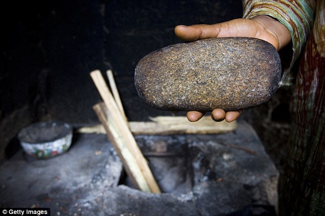 Large stones, a hammer or a spatula that has been heated over hot coals, is used to compress or mutilate the breast tissue and make the adolescent look less 'womanly'