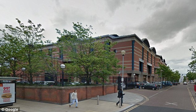 Place was given an eight-month prison sentence, suspended for 18 months, with a 20-day rehabilitation activity requirement, and £300 costs when she appeared at Teesside Crown Court (pictured)