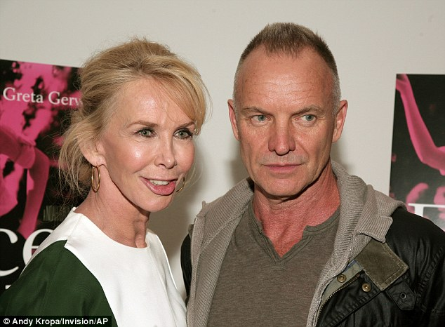 Vision: Sting, pictured with his wife Trudie Styler, says the tea gave him the one religious experience of his life