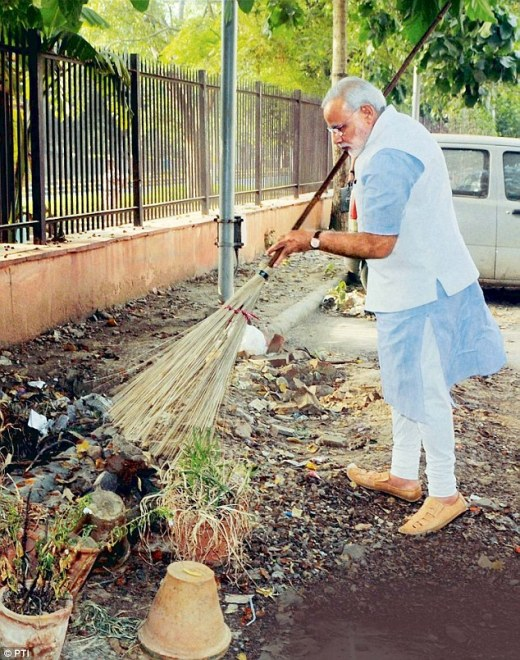 PM Narendra Modi's Swachh Bharat Mission aims to convert all dry toilets into sanitary, flushing ones
