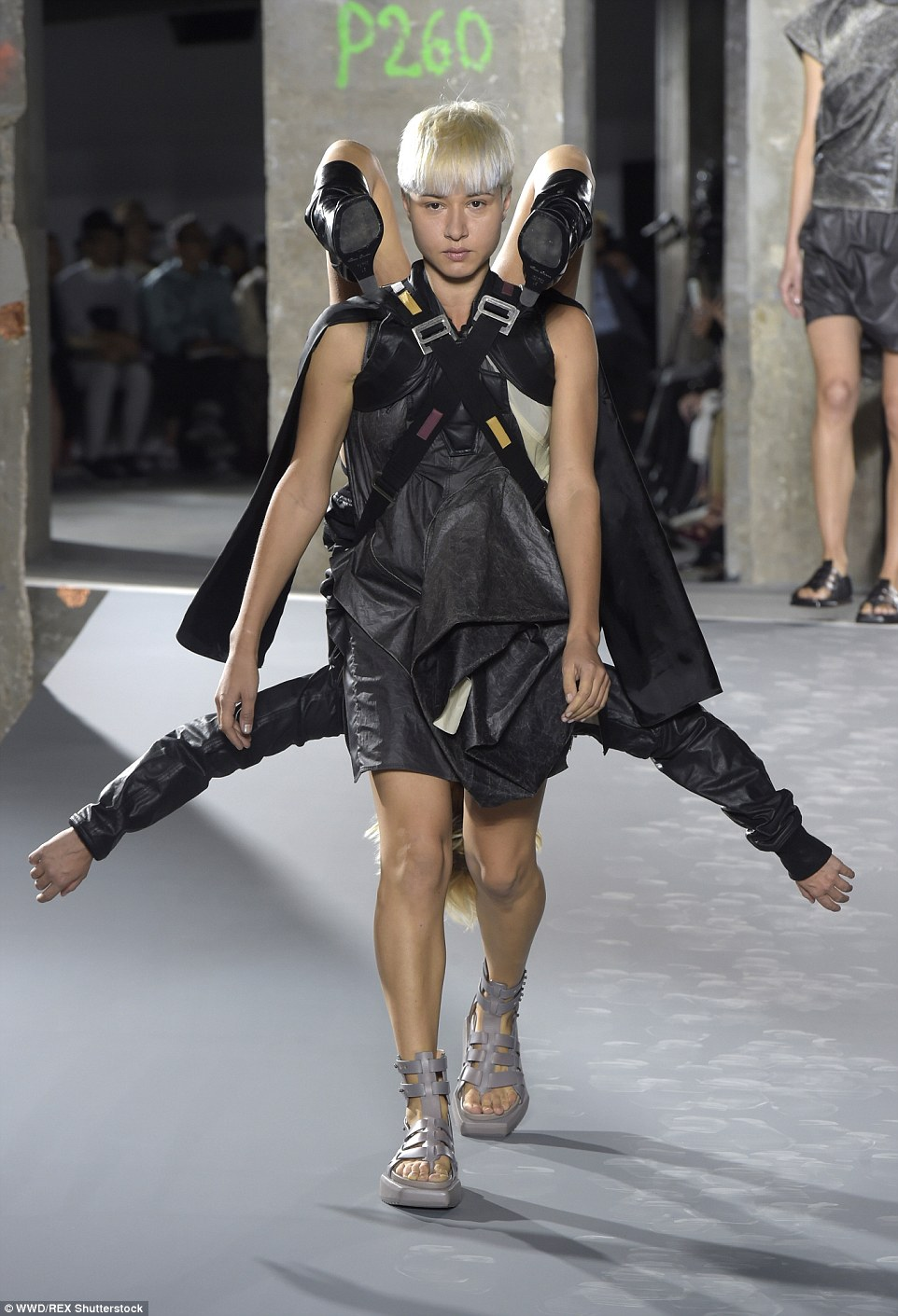 In a statement released after the presentation, Rick Owens explained that the collection was called Cyclops