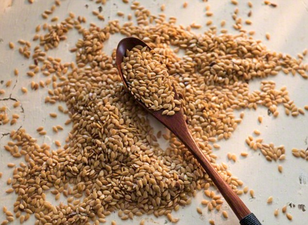 Flaxseeds contain lignans which researchers found were linked to a lower level of breast cancer risk