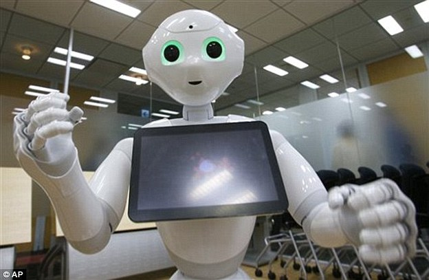 Japanese journalist Yuri Kageyama spent half a day with the robot ahead of its delivery to its first customers later this month. He said that the most striking feature is the 'absolutely ardent attention it gives you.' It told Mr Kageyama he looked a bit thin and should watch what he eats, before it asked him about his day