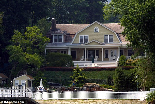 A happy home? Rosie O'Donnell lives in this Nyack, New York mansion. She bought the house next door and turned it into her 'arts and crafts' studio